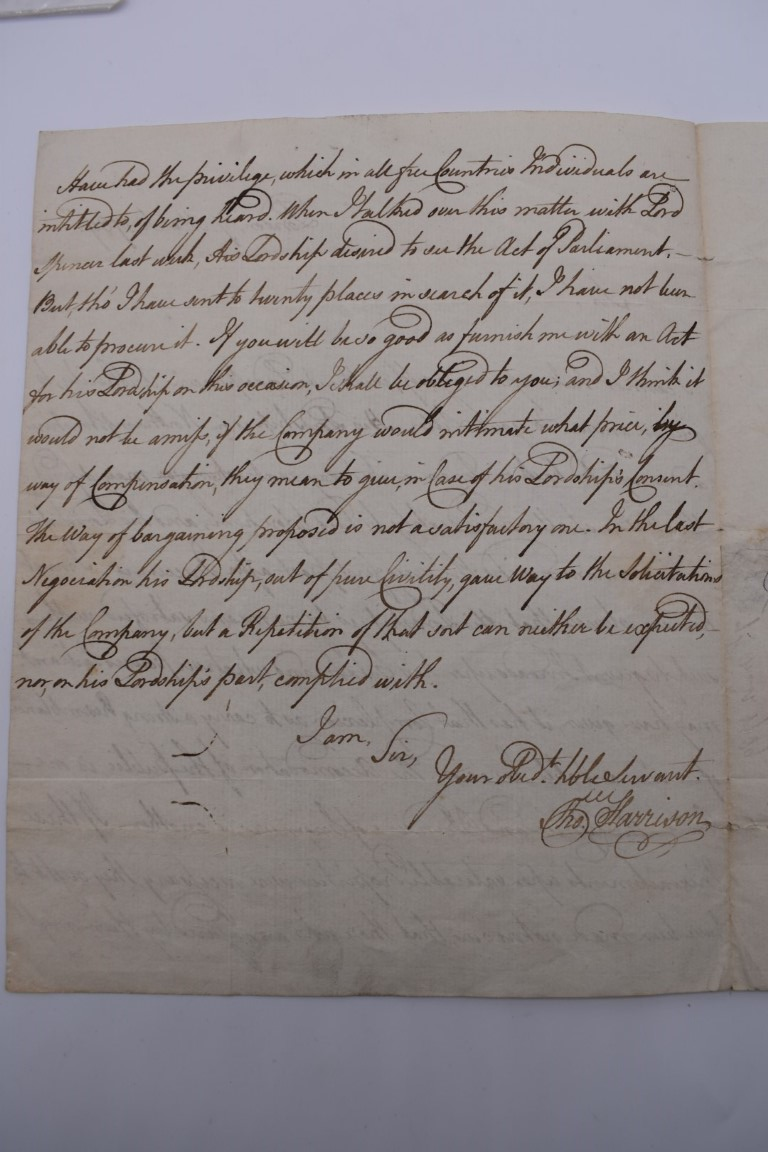 18TH CENTURY LETTERS:a group of 7 autograph letters signed, all English 18th century, to include - Image 13 of 14