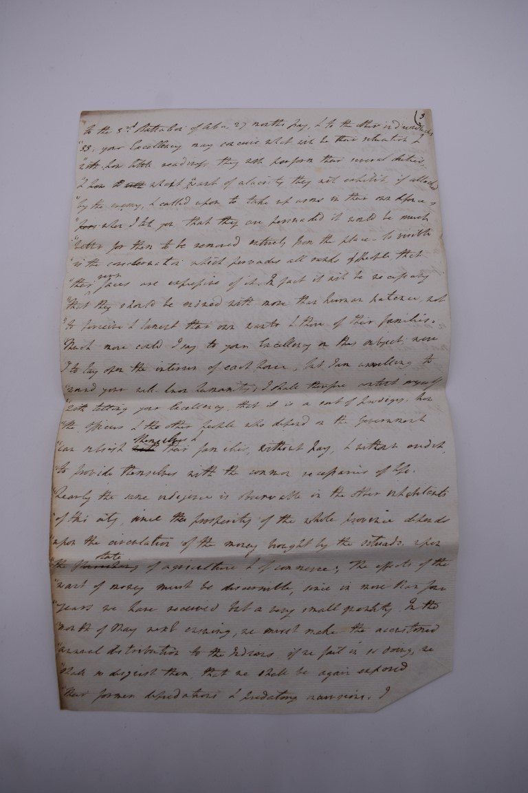CUBA:contemporary manuscript translation of letter from Governor Henry White of Florida to - Image 9 of 10