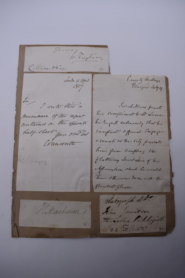 MANUSCRIPT MISCELLANY:collection of ALS and cut signatures, to include 2 side letter from conductor - Image 32 of 36