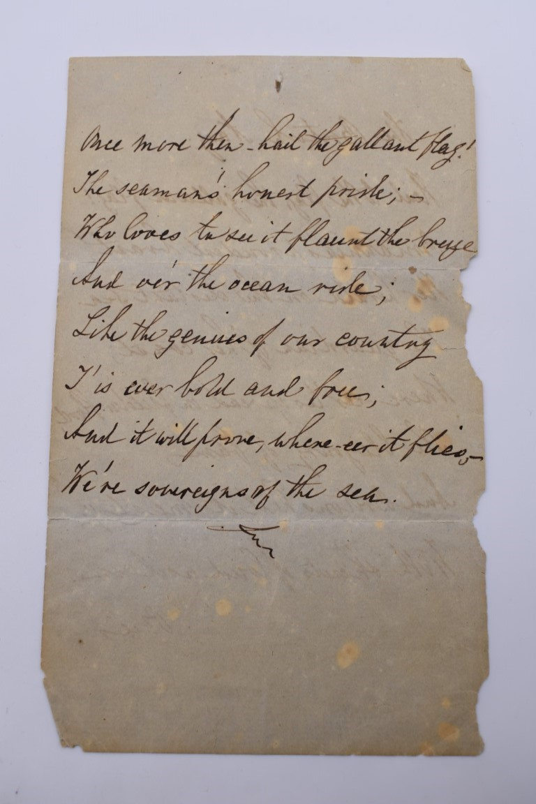LETTERS AND AUTOGRAPHS, NAVAL AND MILITARY:collection of approx 30 items, late 18th-early 20thc, to - Image 9 of 51