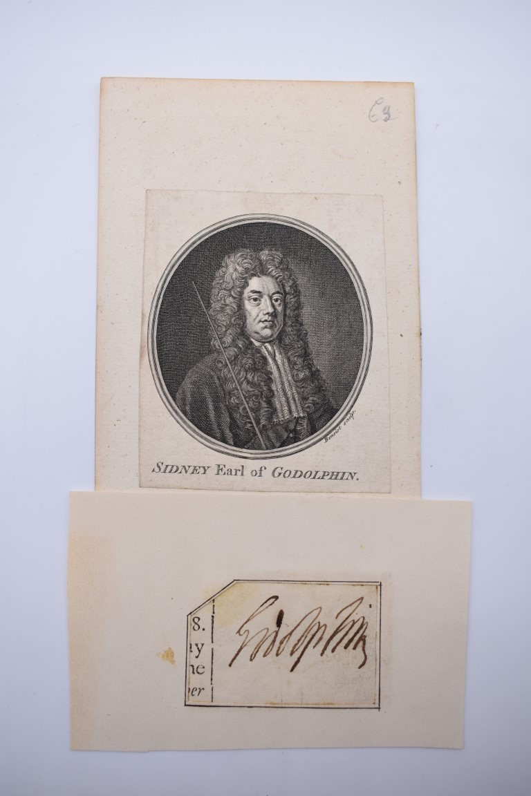 LETTERS & SIGNATURES:a quantity in bundle, largely 19th century nobility and political. (Small - Image 17 of 37