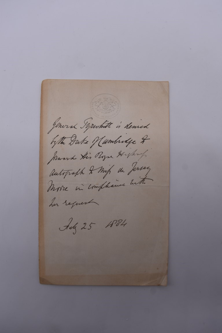 LETTERS & SIGNATURES:a quantity in bundle, largely 19th century nobility and political. (Small - Image 11 of 37
