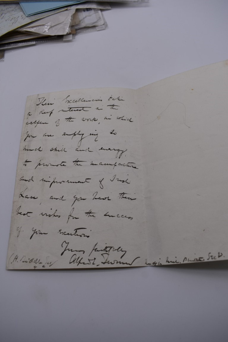 LETTERS, SIGNATURES, MANUSCRIPT MISCELLANY: a collection of over 45 items, largely 19th and early - Image 13 of 83