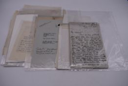 LETTERS AND AUTOGRAPHS:collection of c.18 items, to include 5 line ALS from Gladstone, 10 Downing