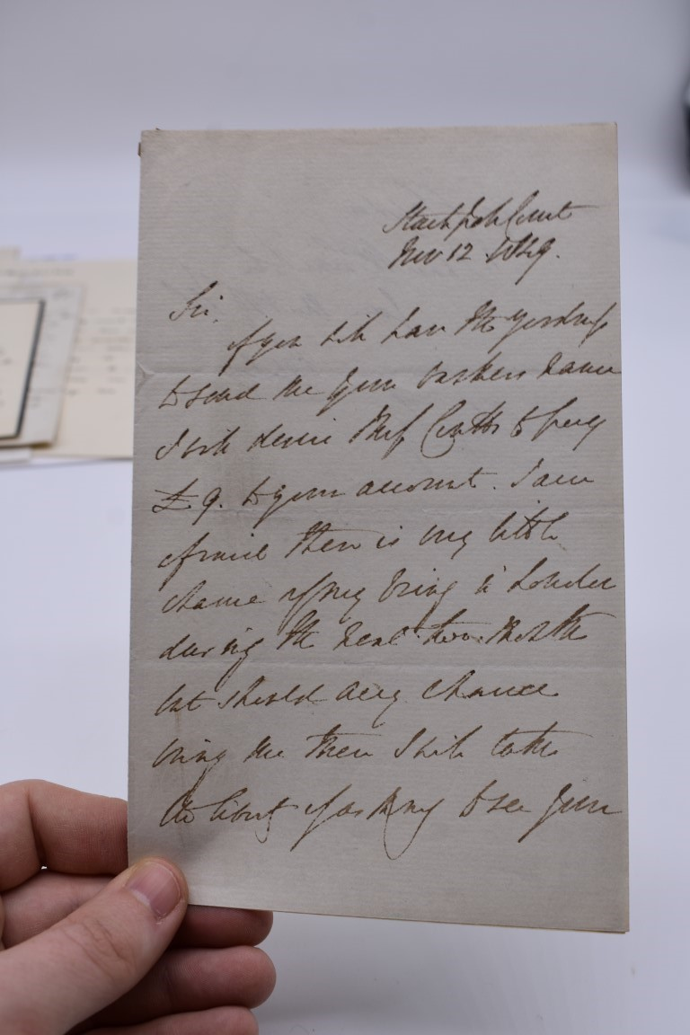 19TH CENTURY LETTERS & MANUSCRIPT:collection of approx 35 items, 19th century and a few later, - Image 41 of 53