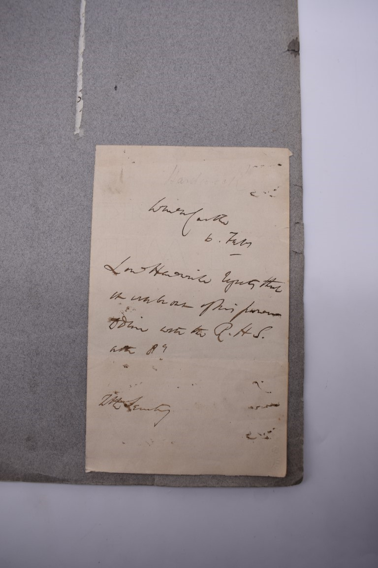 LETTERS & SIGNATURES:a quantity in bundle, largely 19th century nobility and political. (Small - Image 21 of 37