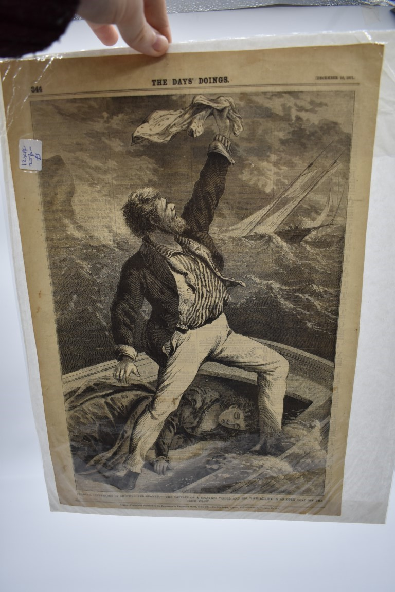 MARITIME ENGRAVINGS: SHIPWRECKS:collection of approx 50 prints and engravings, largely 18th-19th - Image 2 of 62
