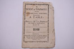 BETTS (Robert):'A Body of Divinity: with fundamentall scriptures, drawn into a table...' London,