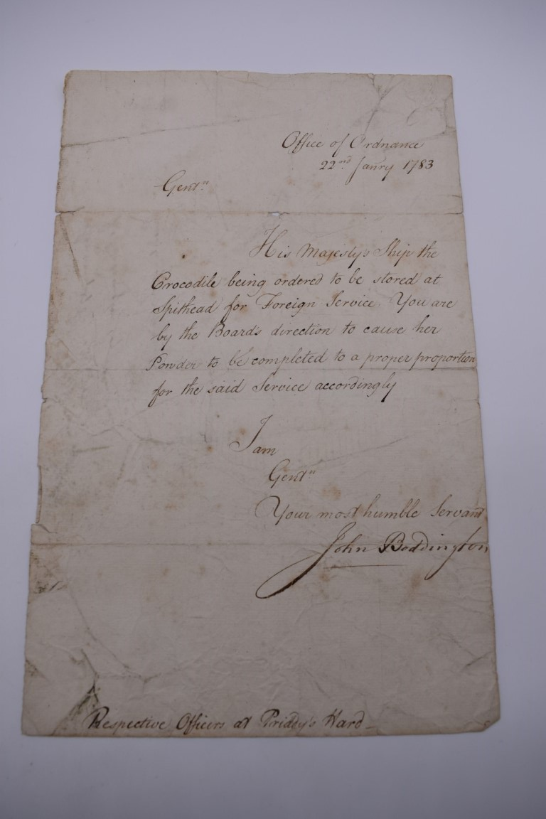 NAVAL ORDERS:collection of 3 late 18th century manuscript naval orders, variable condition, - Image 2 of 8