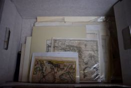PRINTS, MAPS & ENGRAVINGS:collection of approx 70 prints, maps and engravings, largely 17th-19th