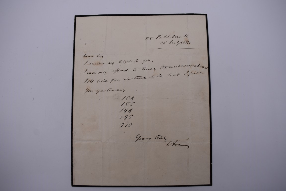 LETTERS & AUTOGRAPHS:MILITARY & NAVAL: collection of c20 items, letters, documents and cut - Image 14 of 14