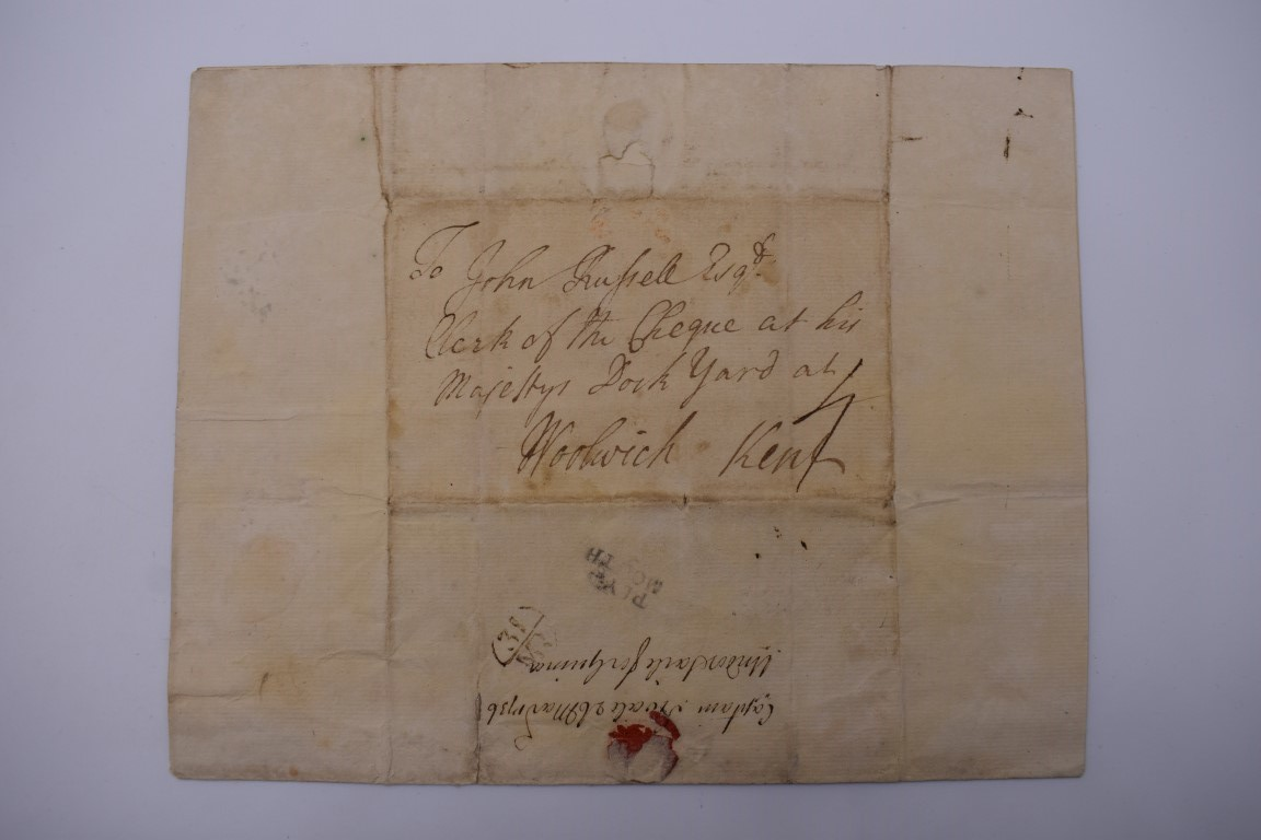'UNDER SAILE FOR GUINEA': entire letter from Captain William Swale to John Russell, clerk of the - Image 2 of 3