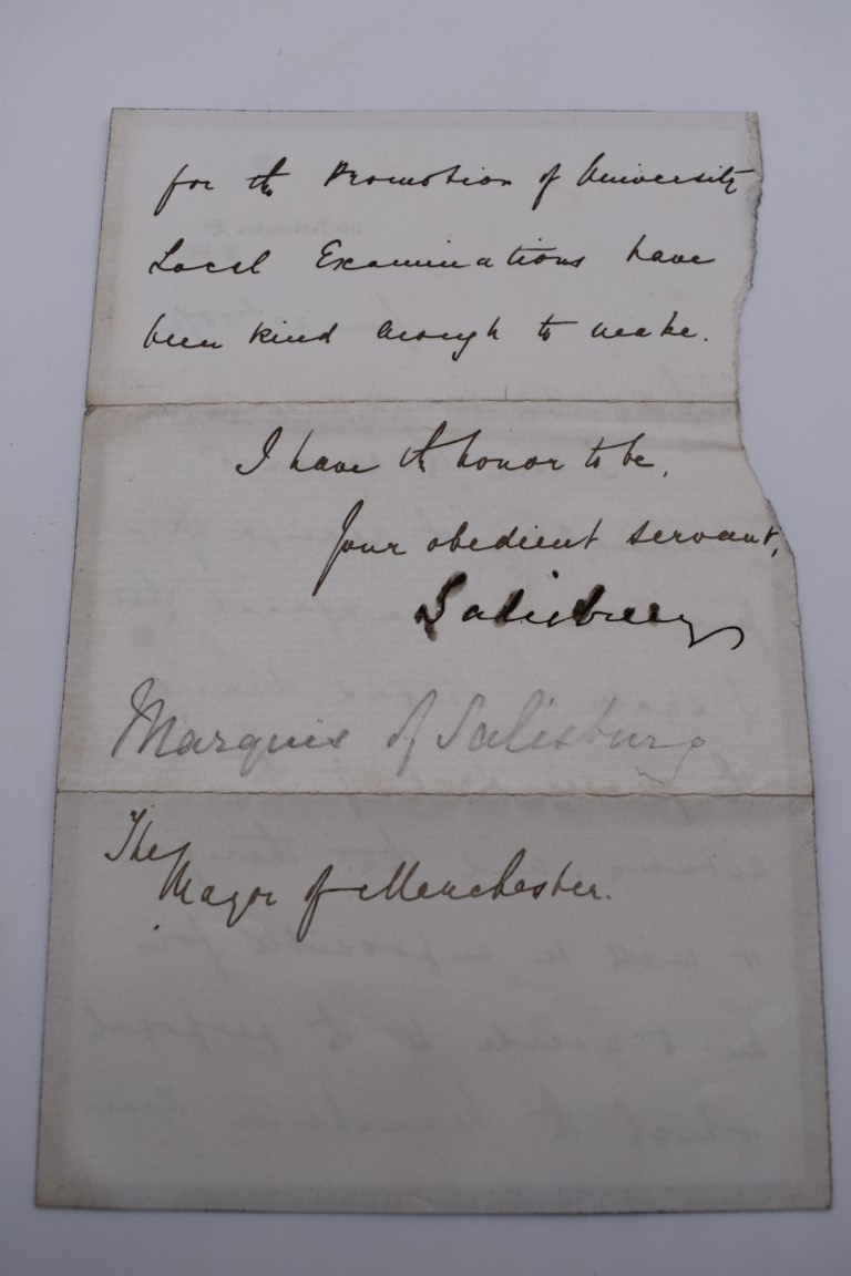 LETTERS, SIGNATURES, MANUSCRIPT MISCELLANY: a collection of over 45 items, largely 19th and early - Image 62 of 83