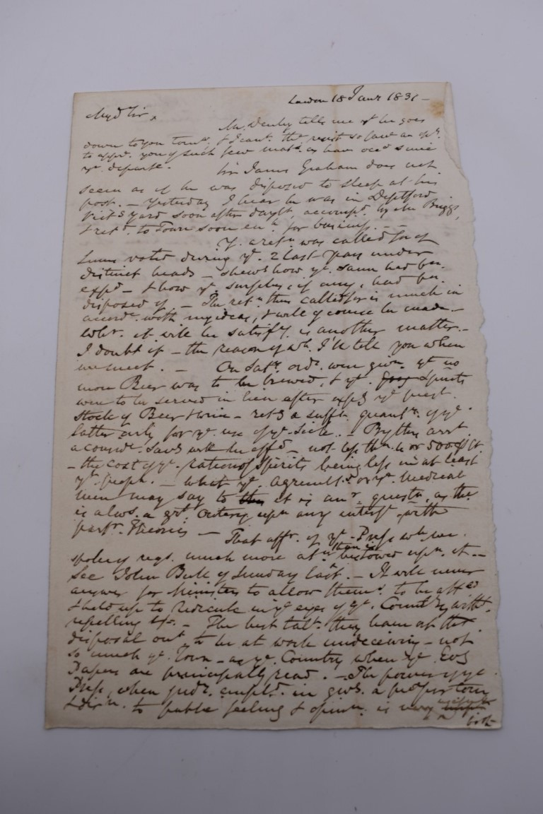 MANUSCRIPT MISCELLANY:a group of approx 27 items, largely 19thc ALS from nobility, churchmen, - Image 24 of 42