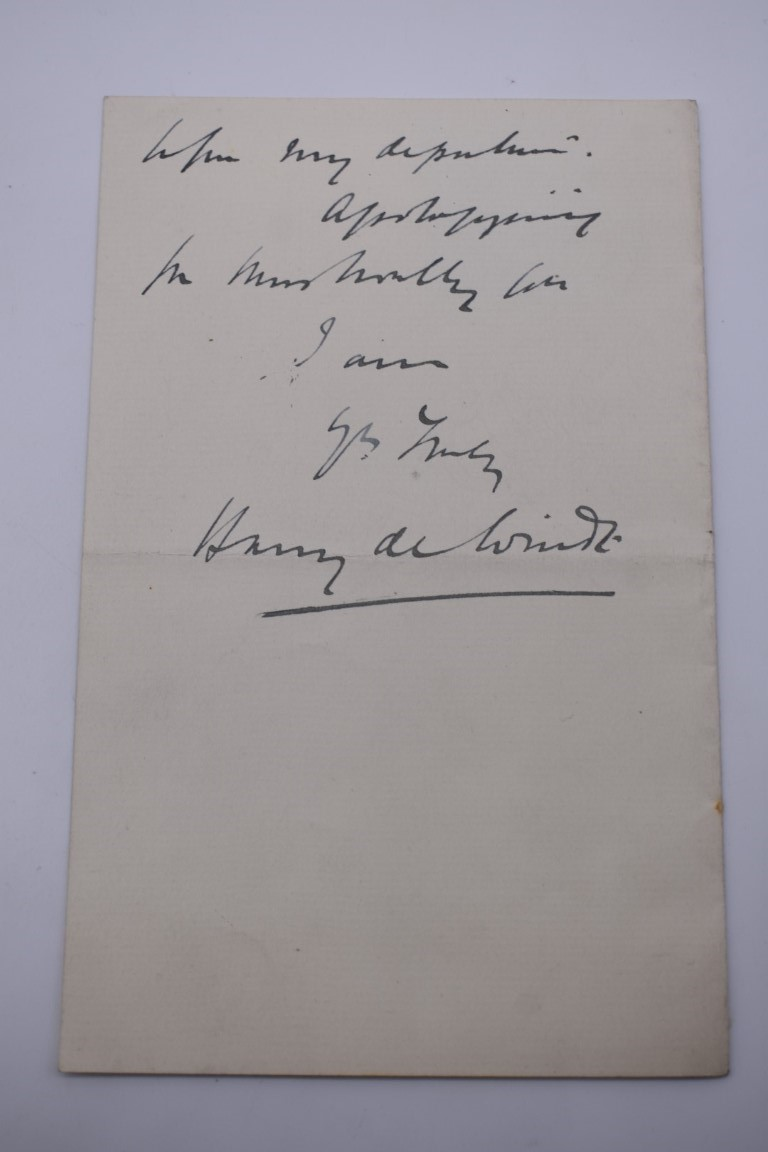 LETTERS AND AUTOGRAPHS, NAVAL AND MILITARY:collection of approx 30 items, late 18th-early 20thc, to - Image 27 of 51