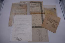 PASSPORT:French Empire passport allowing Victor Bouchard of Paris free passage, 8 June 1860,