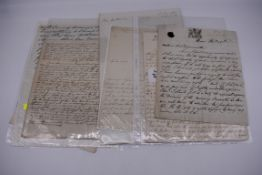 19TH CENTURY LETTERS & DOCUMENTS:two letters entire postmarked Penzance 1840, Buller family,