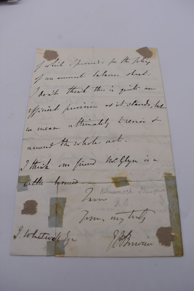 LETTERS, SIGNATURES, MANUSCRIPT MISCELLANY: a collection of over 45 items, largely 19th and early - Image 6 of 83