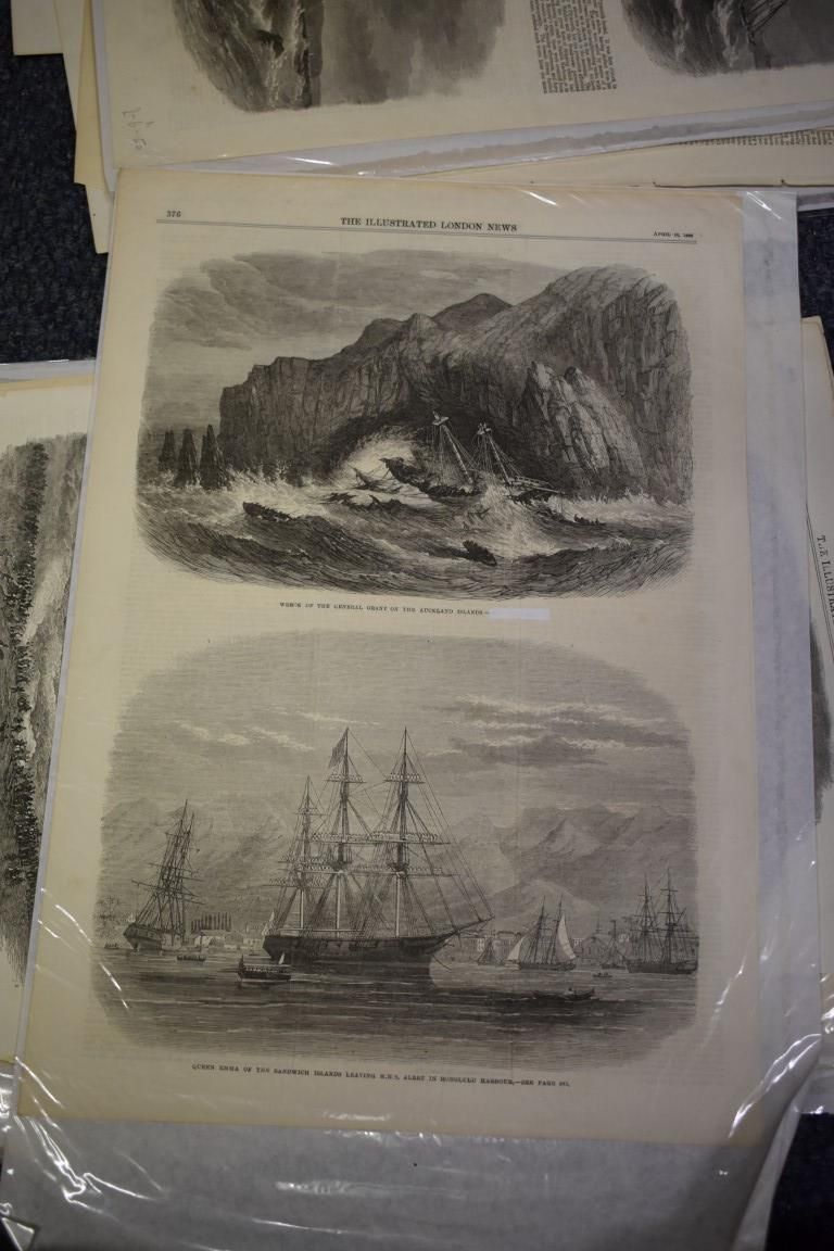 MARITIME ENGRAVINGS: SHIPWRECKS:collection of approx 50 prints and engravings, largely 18th-19th - Image 57 of 62
