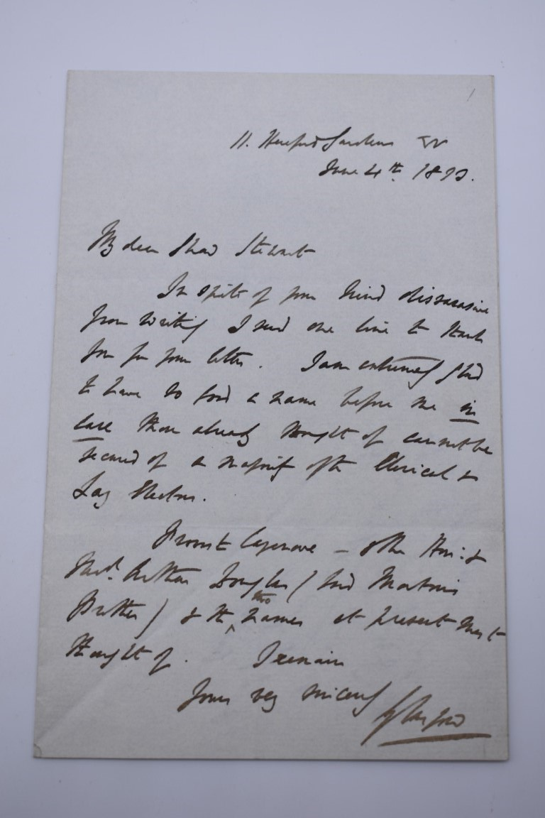 LETTERS AND AUTOGRAPHS, NAVAL AND MILITARY:collection of approx 30 items, late 18th-early 20thc, to - Image 24 of 51