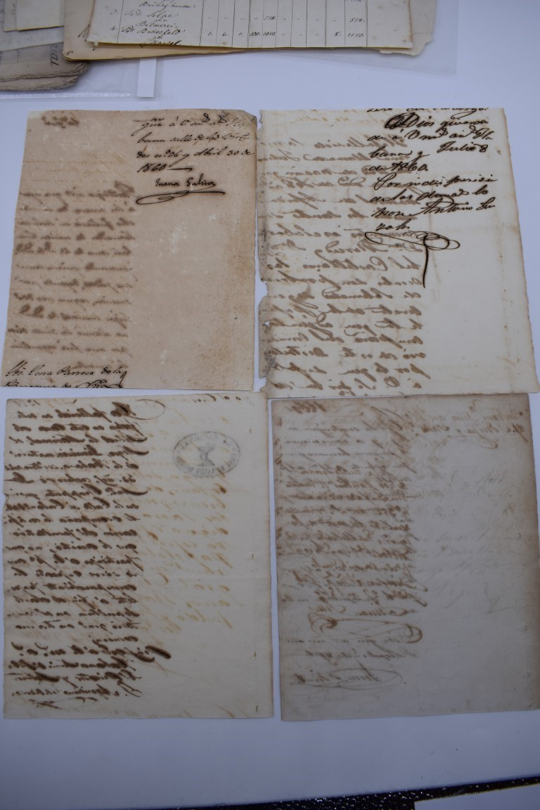 CONTINENTAL DOCUMENTS: group of 9 items, including French manuscript on vellum dated 1645: - Image 5 of 24
