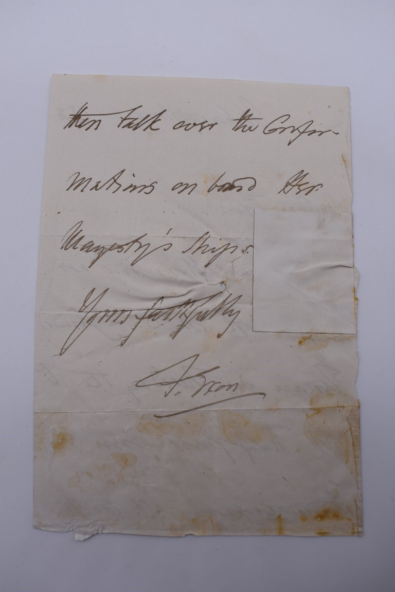 LETTERS & SIGNATURES:a quantity in bundle, largely 19th century nobility and political. (Small - Image 35 of 37