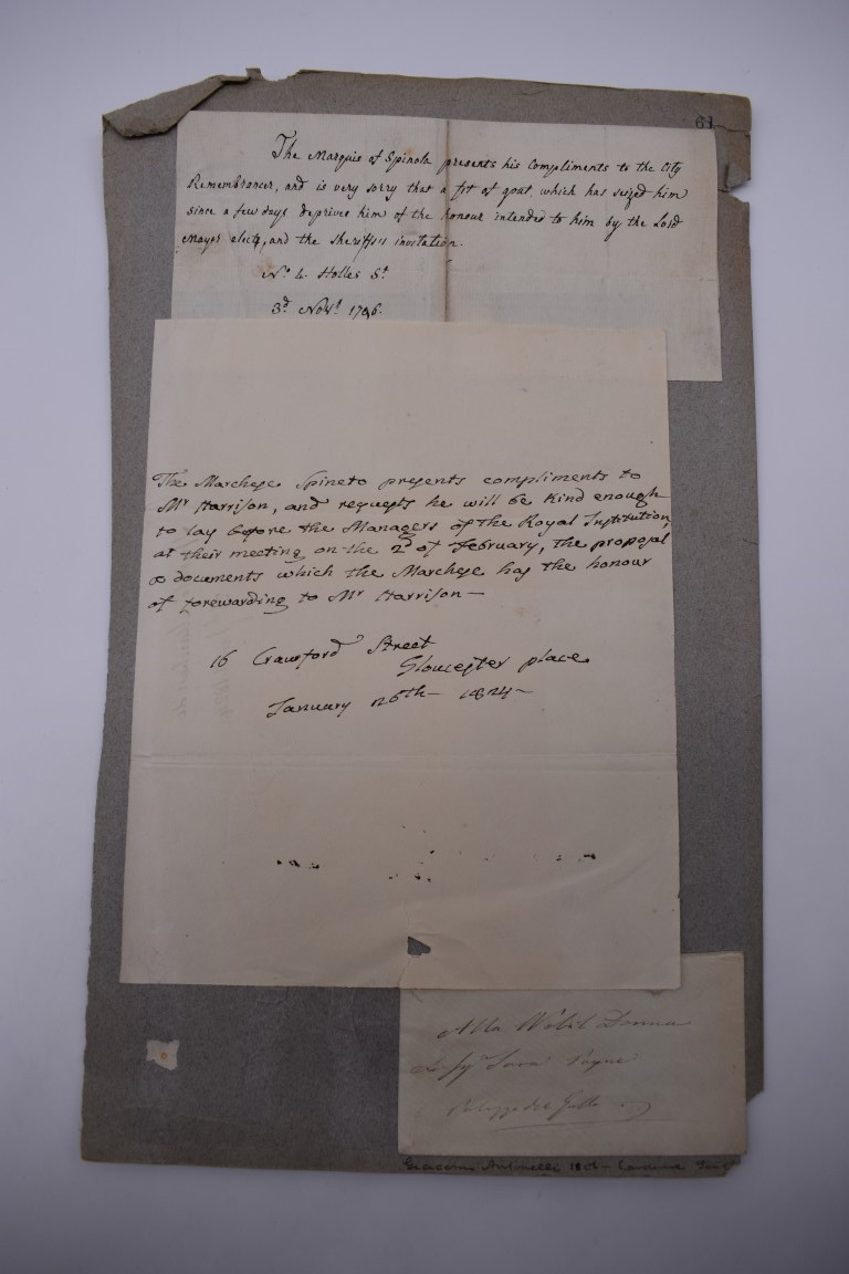 LETTERS, 18TH-19THC:collection of approx 13 items, to include 3 side ALS from the Earl of - Image 23 of 24
