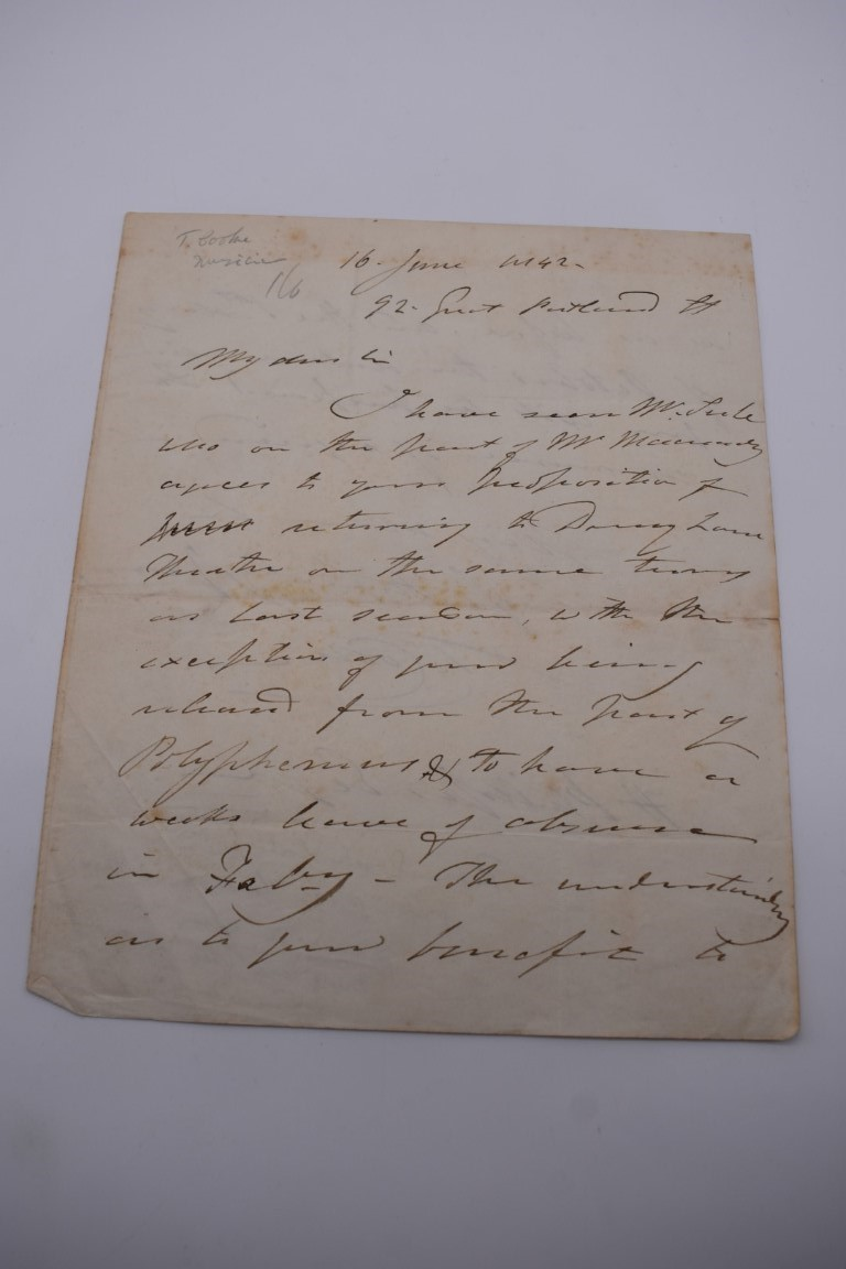 MANUSCRIPT MISCELLANY:collection of ALS and cut signatures, to include 2 side letter from conductor - Image 24 of 36