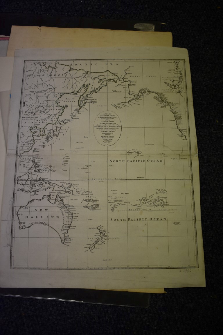 MAPS:collection of 11 miscellaneous maps, 17th-19th century, to include hand-coloured map of - Image 3 of 12