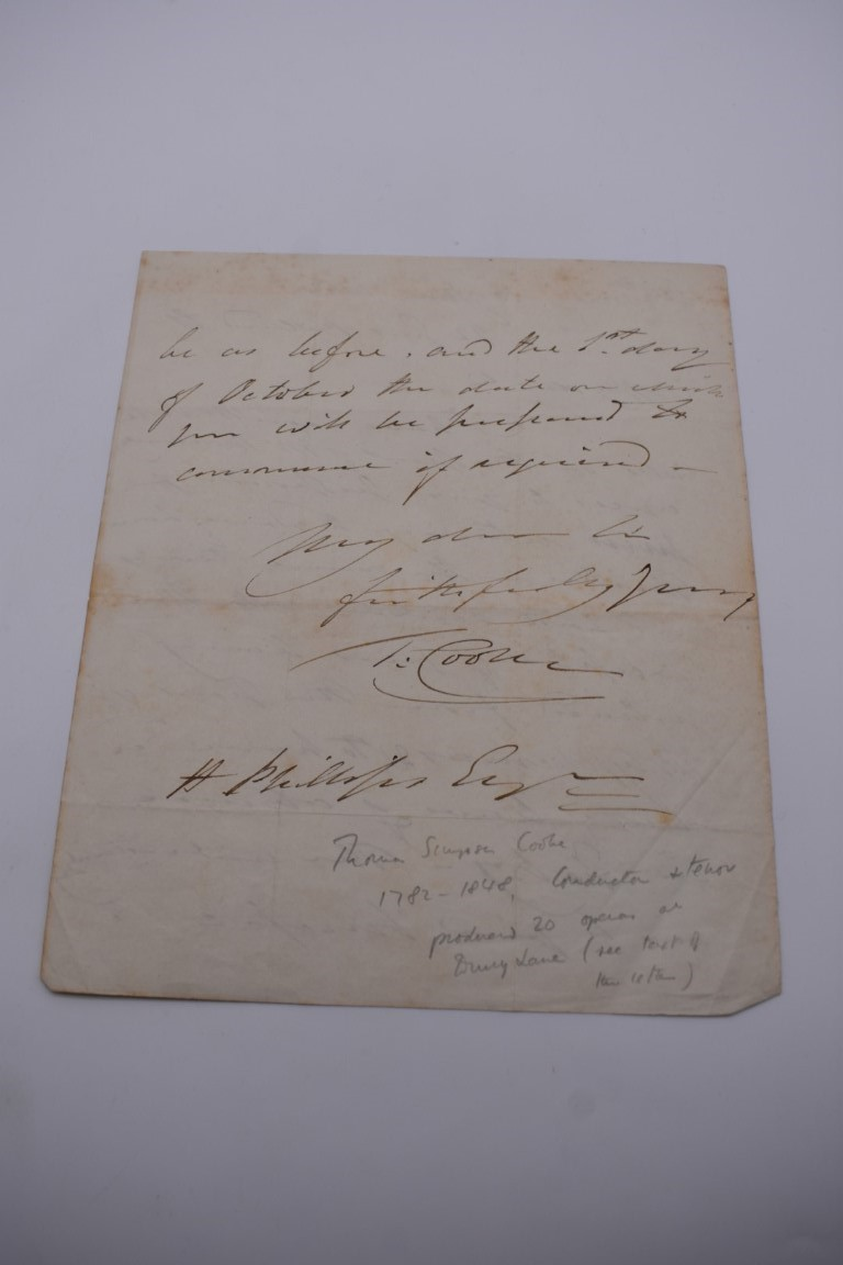 MANUSCRIPT MISCELLANY:collection of ALS and cut signatures, to include 2 side letter from conductor - Image 25 of 36