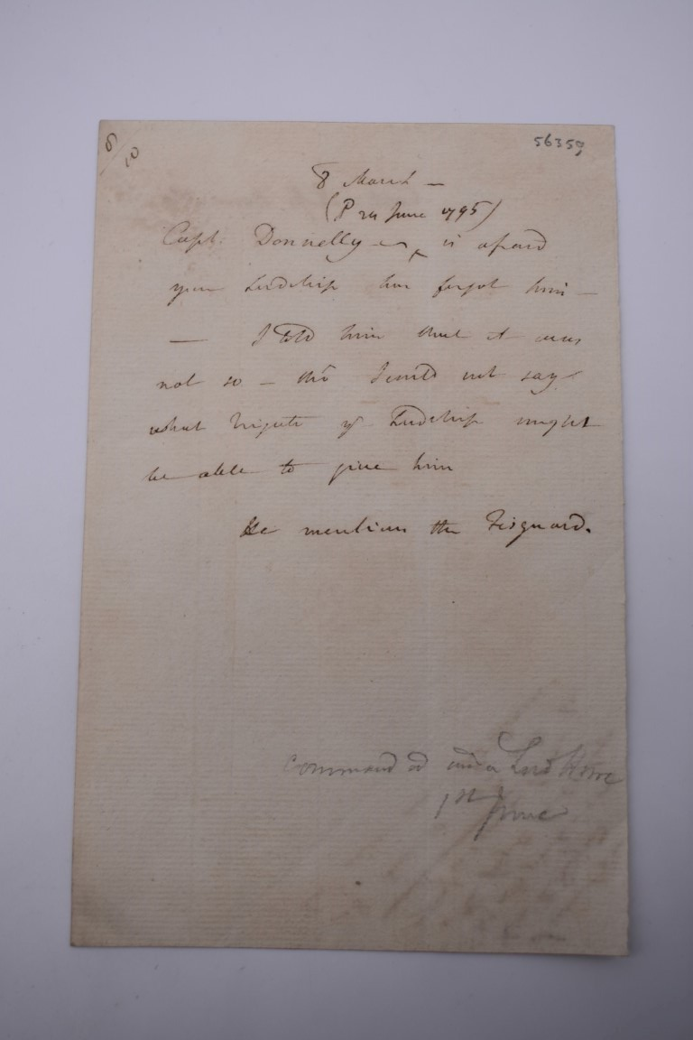 LETTERS AND AUTOGRAPHS, NAVAL AND MILITARY:collection of approx 30 items, late 18th-early 20thc, to - Image 33 of 51