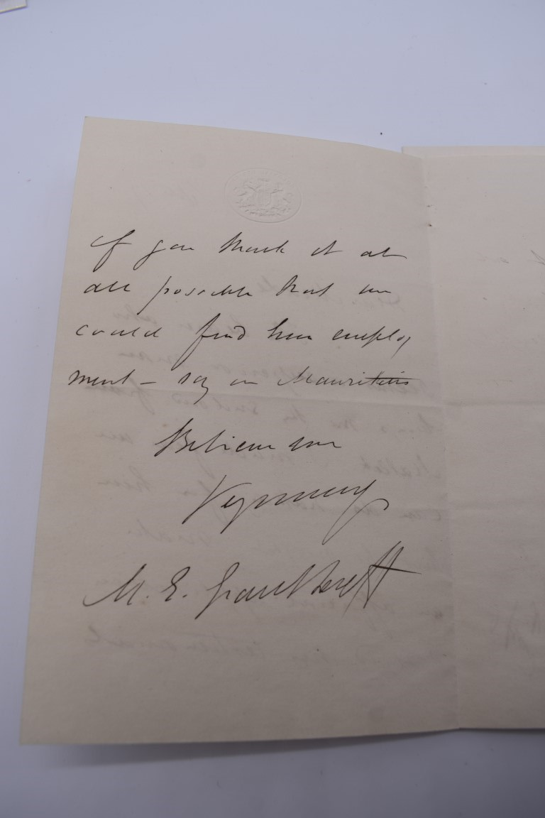 LETTERS & SIGNATURES:a quantity in bundle, largely 19th century nobility and political. (Small - Image 25 of 37