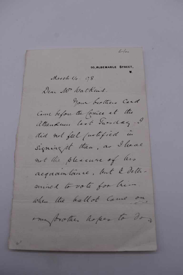 LETTERS:a collection of 20 items, largely letters late 19th-earlier 20thc, to include short one - Image 3 of 26