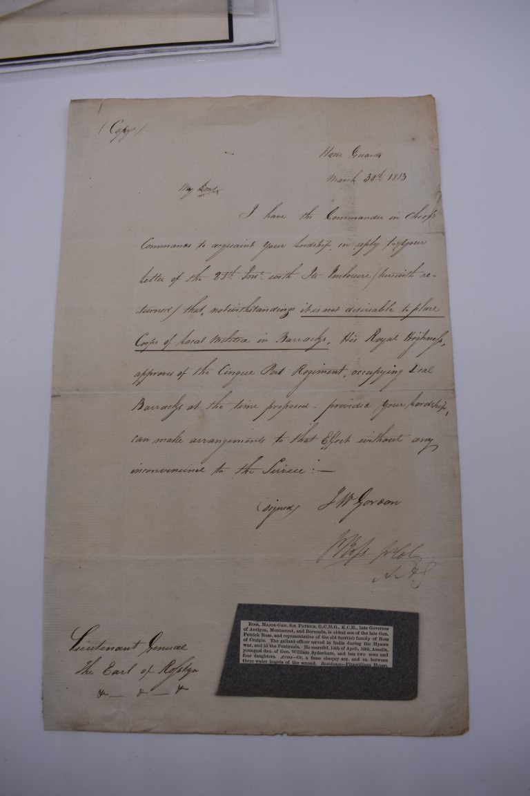 LETTERS & AUTOGRAPHS:MILITARY & NAVAL: collection of c20 items, letters, documents and cut - Image 4 of 14