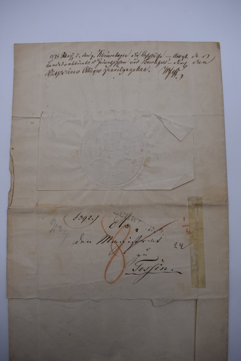 CONTINENTAL DOCUMENTS: group of 9 items, including French manuscript on vellum dated 1645: - Image 10 of 24