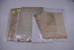 MARITIME ACCOUNTS, MID 18th CENTURY:Dr Samuel Wallis Esq with James Dickson, statement of accounts,
