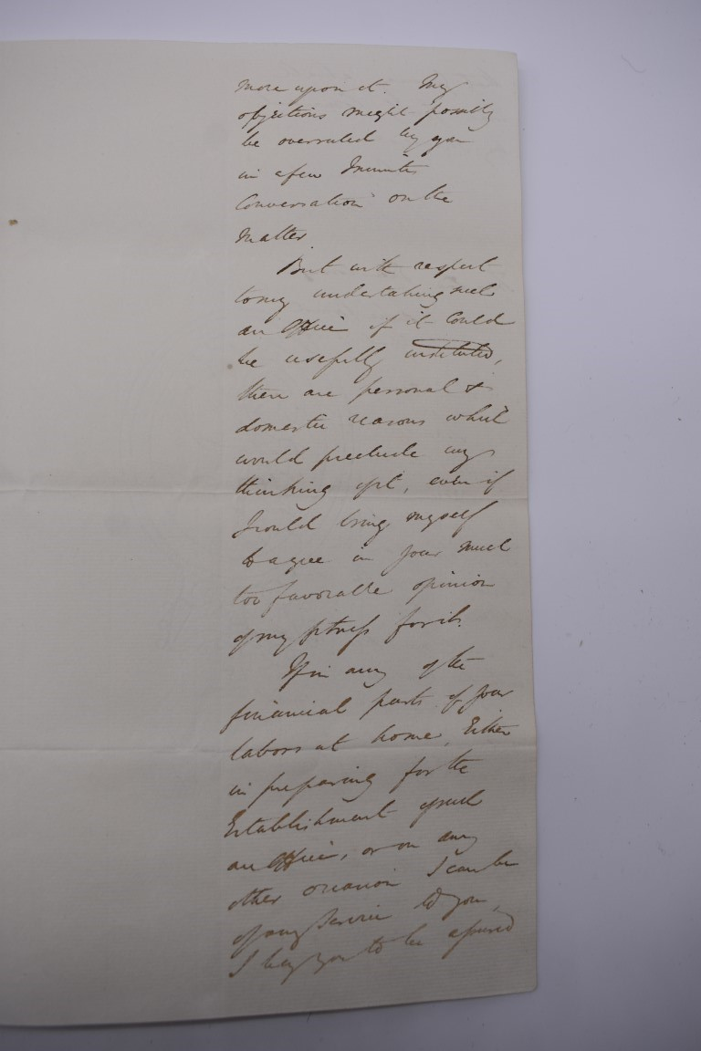 19TH CENTURY LETTERS & DOCUMENTS:two letters entire postmarked Penzance 1840, Buller family, - Image 14 of 23