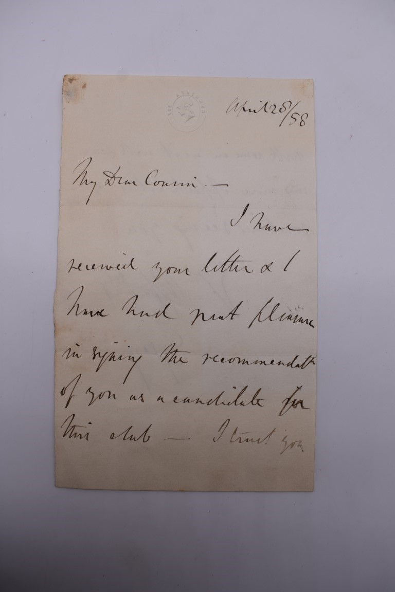 LETTERS:a collection of 20 items, largely letters late 19th-earlier 20thc, to include short one - Image 9 of 26