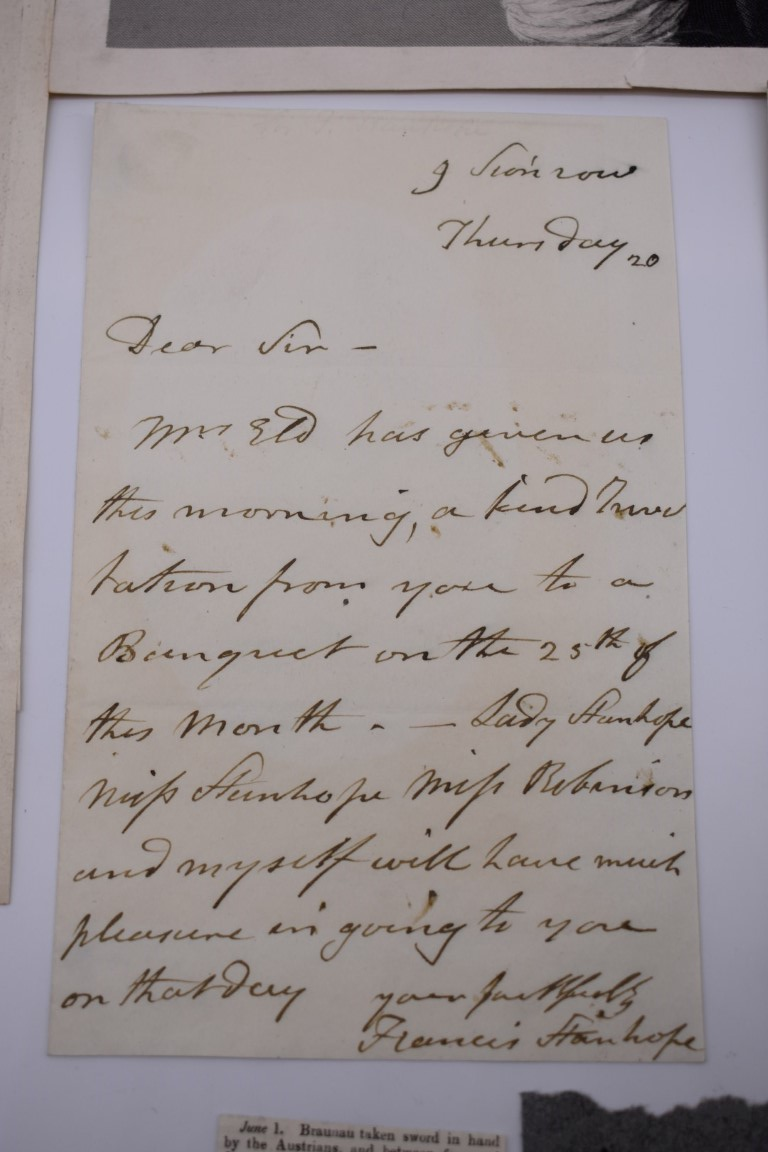 LETTERS AND AUTOGRAPHS, NAVAL AND MILITARY:collection of approx 30 items, late 18th-early 20thc, to - Image 46 of 51