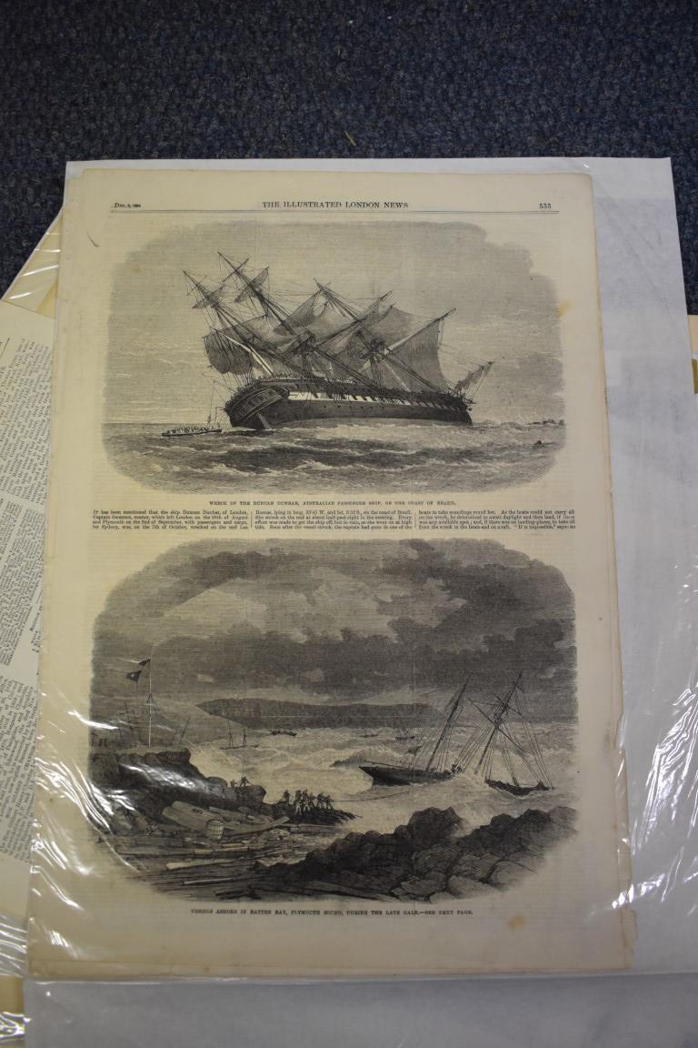 MARITIME ENGRAVINGS: SHIPWRECKS:collection of approx 50 prints and engravings, largely 18th-19th - Image 34 of 62