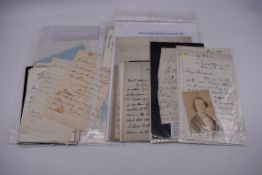 MANUSCRIPT MISCELLANY:a group of approx 27 items, largely 19thc ALS from nobility, churchmen,