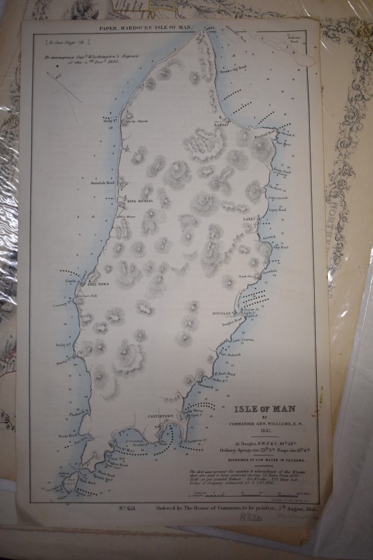 MAPS:collection of 11 miscellaneous maps, 17th-19th century, to include hand-coloured map of - Image 8 of 12