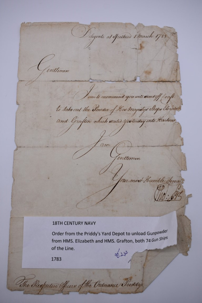 NAVAL ORDERS:collection of 3 late 18th century manuscript naval orders, variable condition, - Image 5 of 8