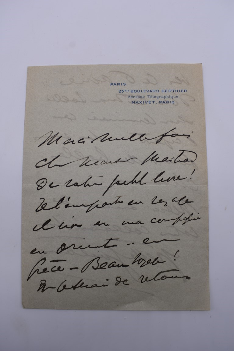 LETTERS & SIGNATURES:a quantity in bundle, largely 19th century nobility and political. (Small - Image 26 of 37