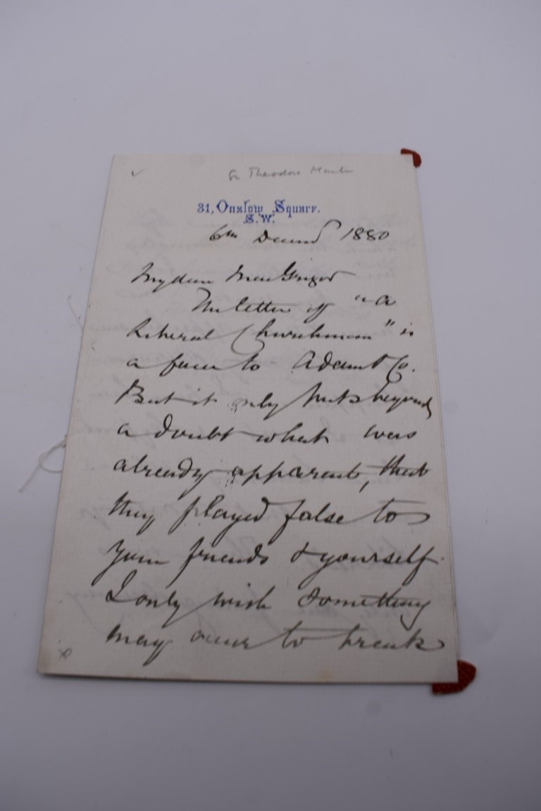 MANUSCRIPT MISCELLANY:collection of ALS and cut signatures, to include 2 side letter from conductor - Image 19 of 36