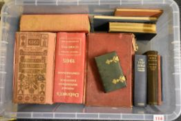 BOX:misc books including Dodd's Peerage for 1920, Debrett's 1919 and two others similar, small
