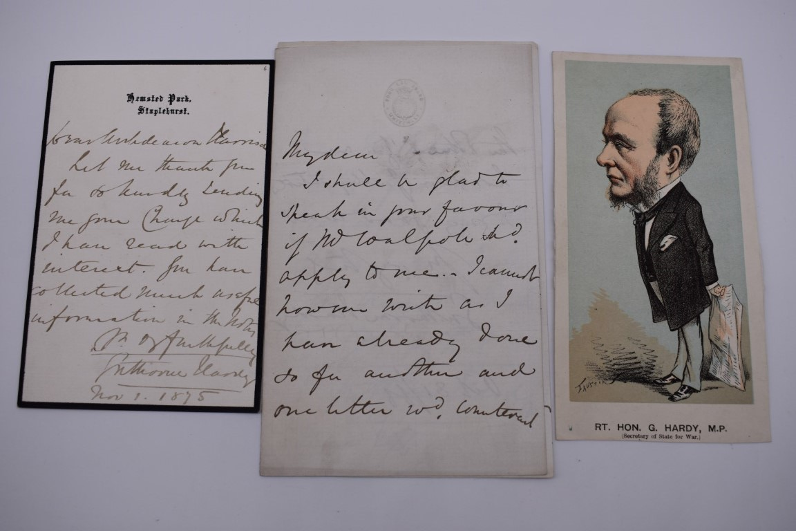LETTERS AND AUTOGRAPHS, NAVAL AND MILITARY:collection of approx 30 items, late 18th-early 20thc, to - Image 35 of 51
