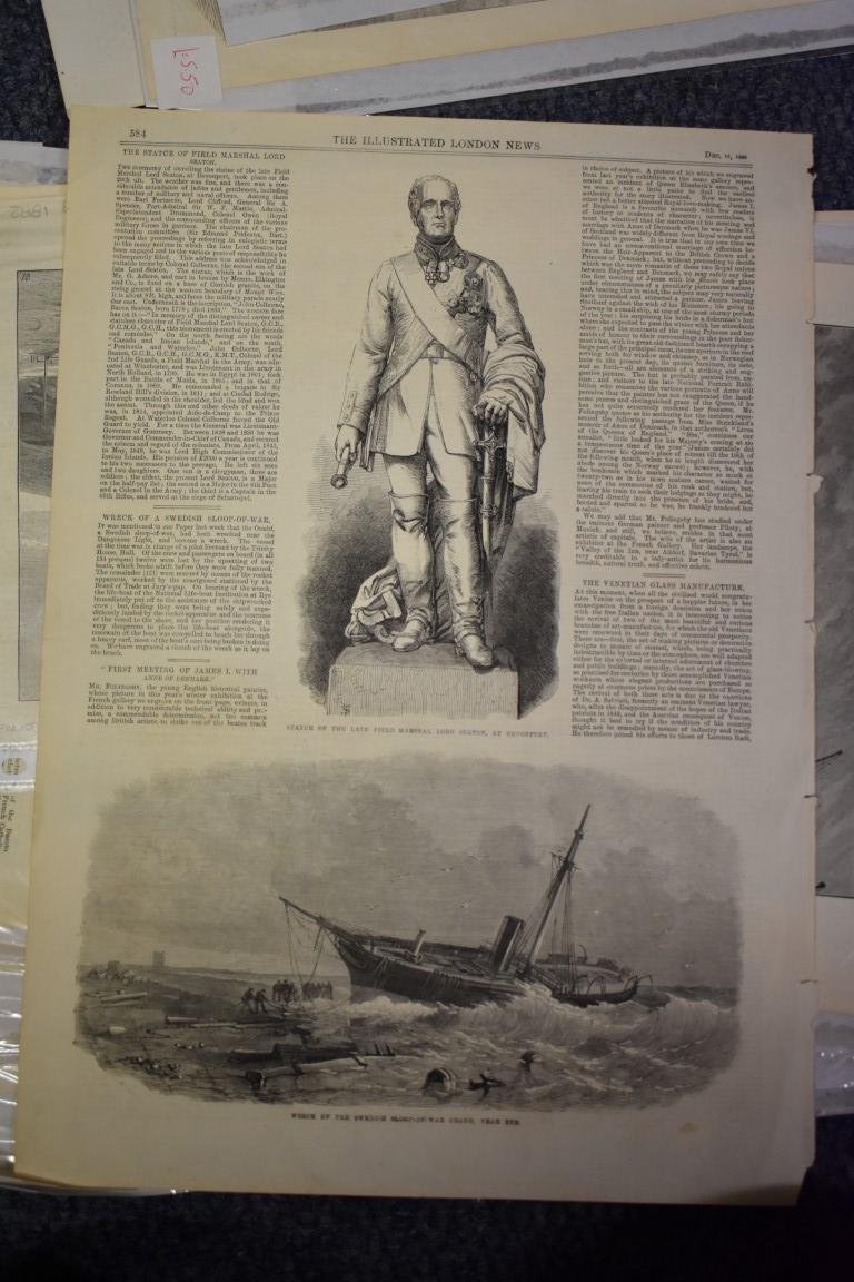 MARITIME ENGRAVINGS: SHIPWRECKS:collection of approx 50 prints and engravings, largely 18th-19th - Image 51 of 62