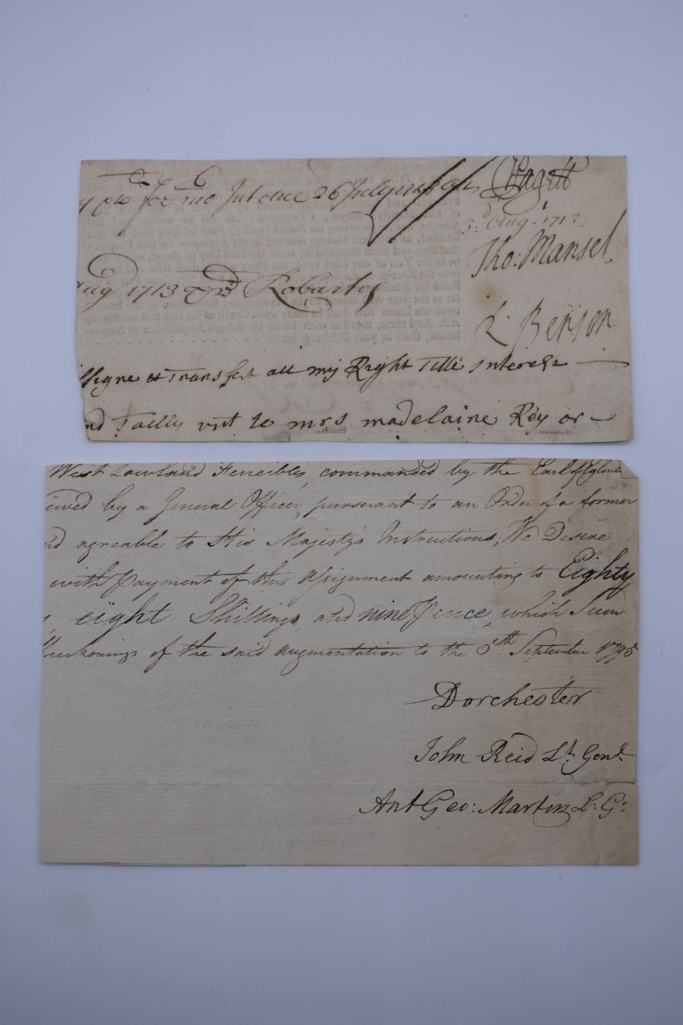 MANUSCRIPT MISCELLANY:collection of approx 18 items, manuscripts on paper, 17th to early 19th - Image 16 of 26