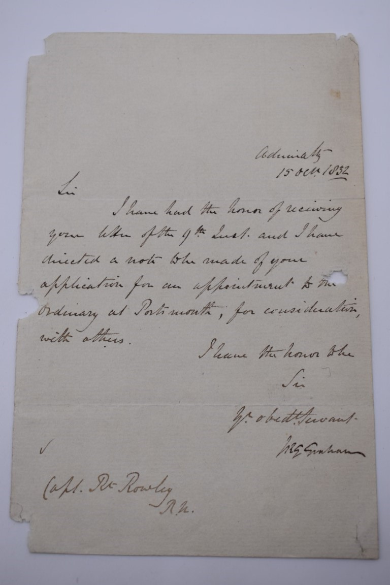 LETTERS AND AUTOGRAPHS, NAVAL AND MILITARY:collection of approx 30 items, late 18th-early 20thc, to - Image 10 of 51